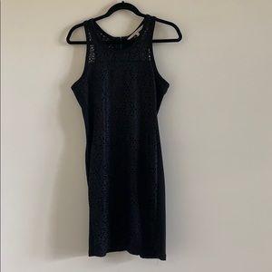 Rachel Roy Little Eyelet Dress Black Size Medium